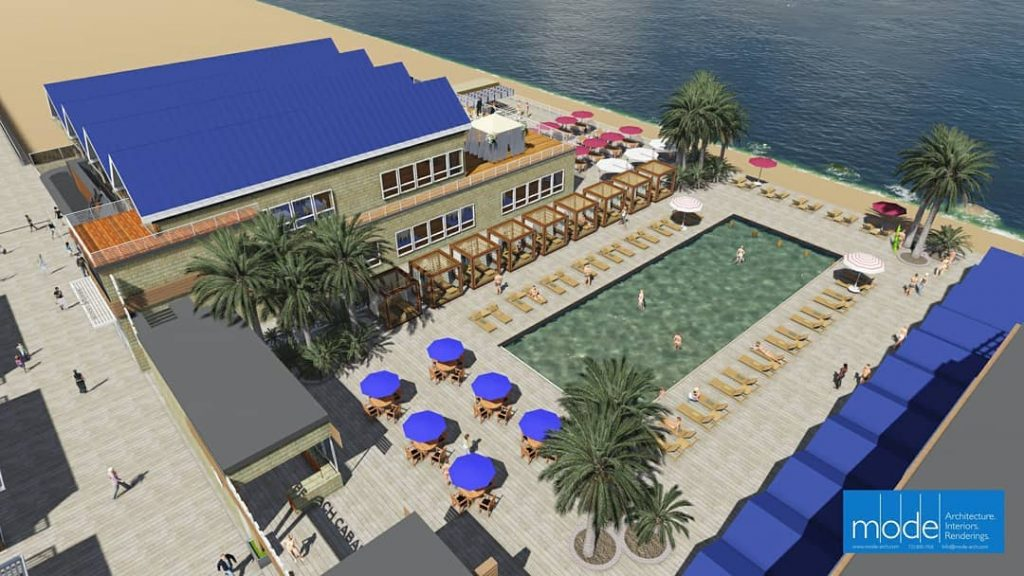 A rendering of the Beach Bar, recently approved by the Seaside Heights planning board. (Credit: MODE Architects)