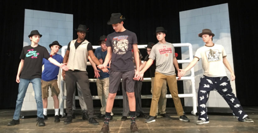 "BTHS students prepare for ""Guys and Dolls"" for their spring 2018 musical. (Submitted Photo)"