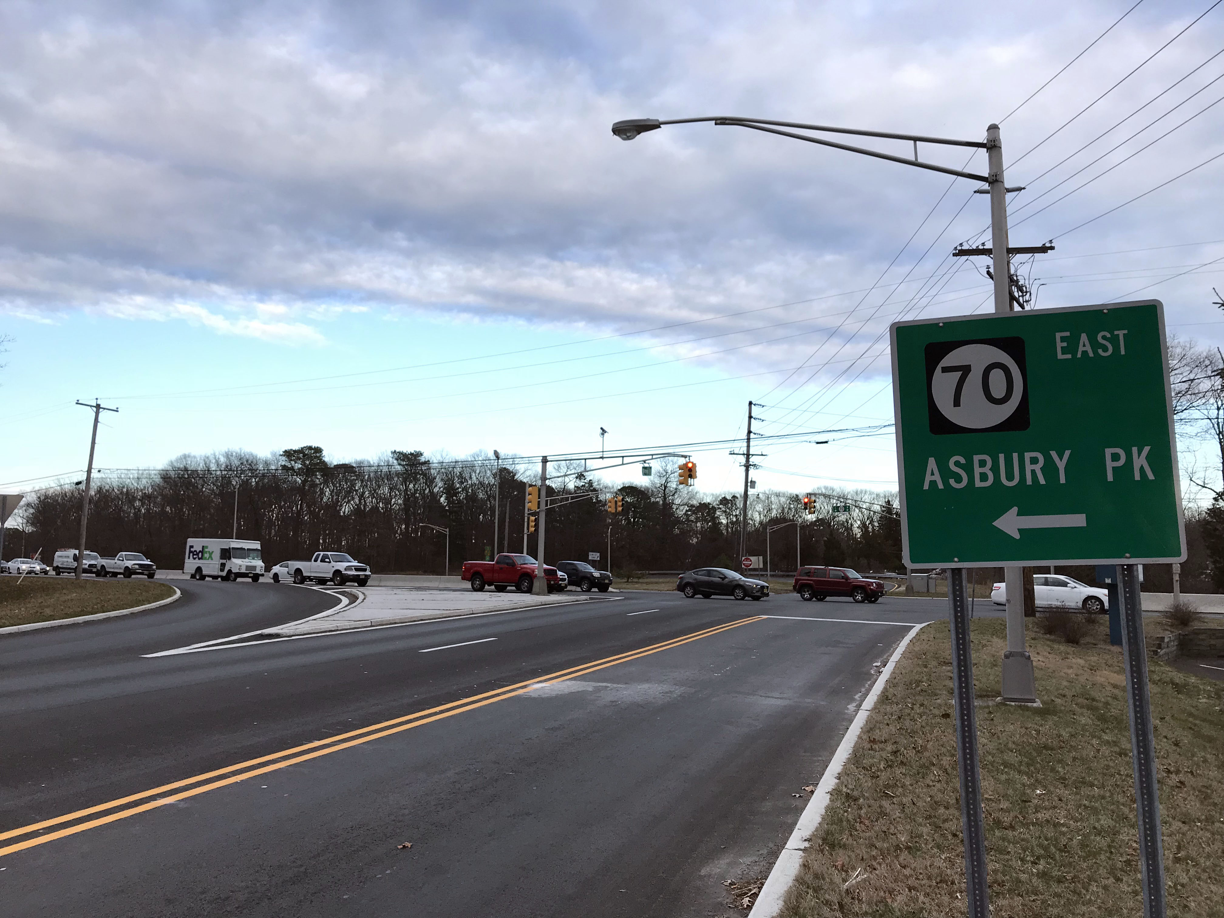 The intersection of Route 70 and Olden Street, Brick, N.J., March 2018. (Photo: Daniel Nee)