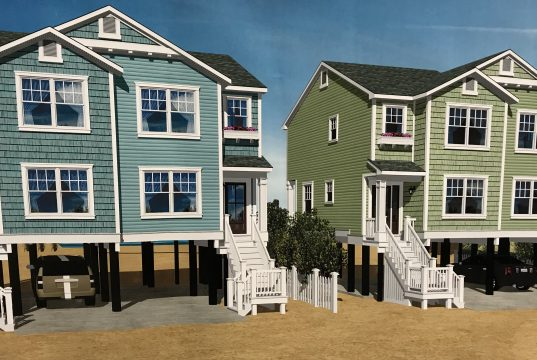 A rendering of proposed homes for the rebuilt Camp Osborn neighborhood. (Photo: Daniel Nee)