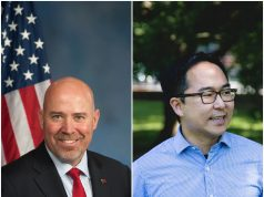 U.S. Rep. Tom MacArthur and challenger Andy Kim. (File Photos)