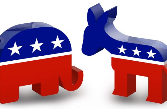Republican elephant and Democratic donkey. (Credit: DonkeyHotey/ Flickr)