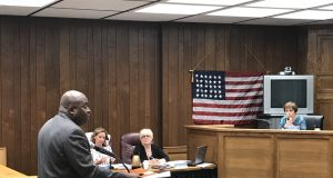 Mike McNeil, of the NJ NAACP, speaks to Brick officials, June 12, 2018. (Photo: Daniel Nee)