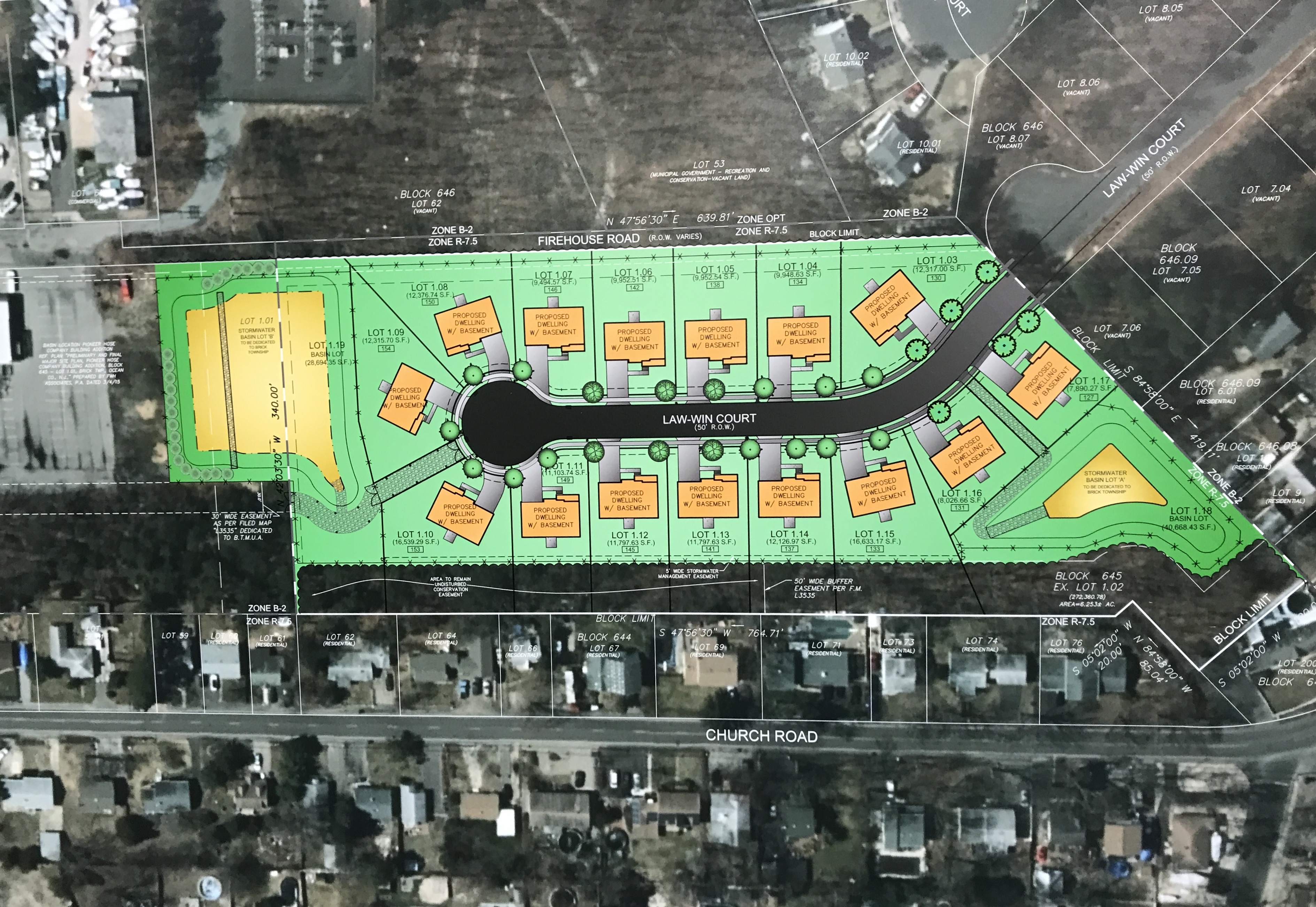 Plans showing homes proposed for a 6.2-acre plot owned by the Pioneer Hose Fire Company. (Photo: Daniel Nee)