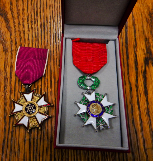 John Santillo's Legion of Honour award.