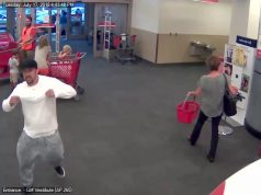 The suspect in a theft from Shop-Rite in Brick enters the nearby Target store. (Credit: Brick Twp. Police)