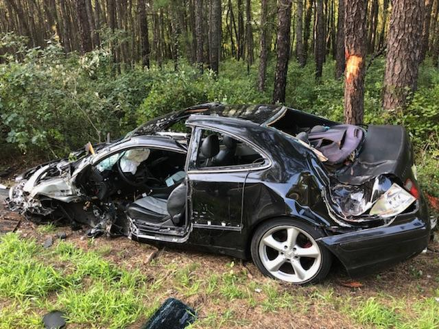One of the vehicles involved in an Aug. 6, 2018 crash in Whiting. (Photo: Manchester Twp. Police)
