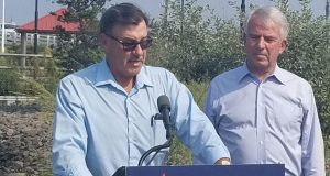 Brick Councilman Jim Fozman and U.S. Sen. candidate Bob Hugin. (File Photo)
