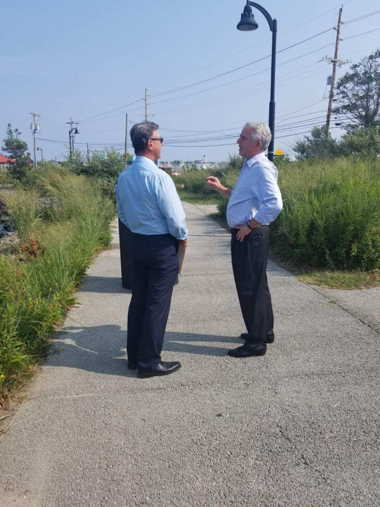 Brick Councilman Jim Fozman and U.S. Sen. candidate Bob Hugin. (File Photo)