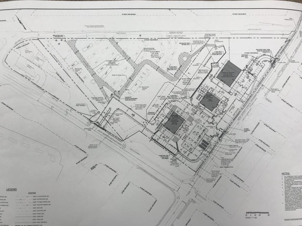 Plans for a new Wawa and adjacent stores in Brick. (Photo: Daniel Nee)