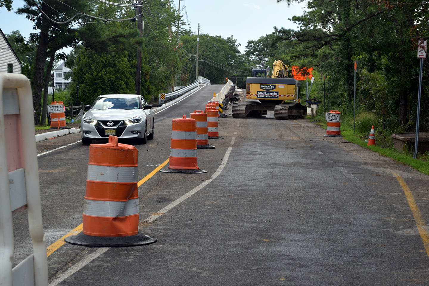 The new portion of the Midstreams bridge in Brick opens to traffic, Aug. 2, 2018. (Photo: Daniel Nee)