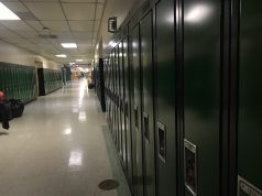 A row of lockers at Brick Township High School. (Photo: Daniel Nee)