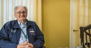 Charles Vorndran, of Brick, reminisces about his World War III heroics. (Photo: Daniel Nee)