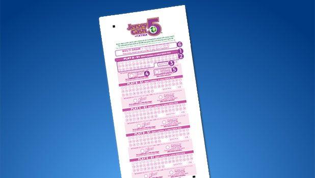 A Jersey Cash 5 lottery ticket. (Photo: NJ Lottery/Shorebeat)