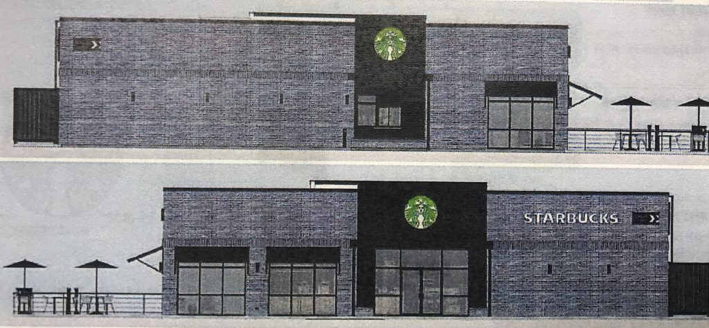 The rendering of a proposed Starbucks location in Brick Township. (Photo: Daniel Nee)