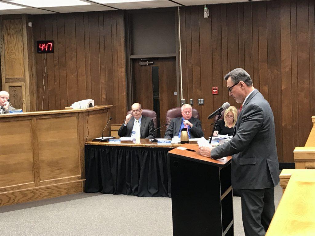 Brick Councilman Jim Fozman speaks during the public comment portion of the Dec. 4, 2018 council meeting. (Photo: Daniel Nee)