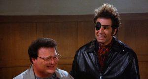 Newman and Kramer appear in municipal court. (Credit: Seinfeld)