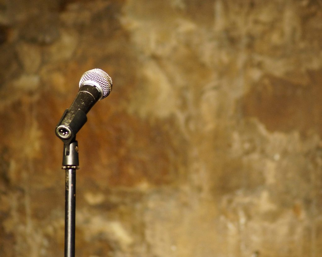 Comedy show microphone. (File Photo)