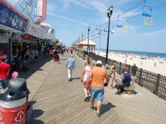 The Seaside Heights beach and boardwalk. (Photo: Daniel Nee)