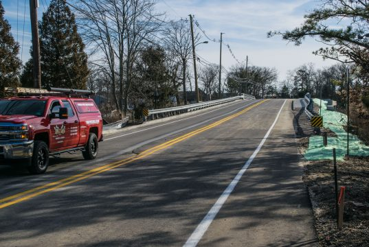 The Midstreams Bridge in Brick Township reopens to traffic, Feb. 19, 2019. (Photo: Daniel Nee)