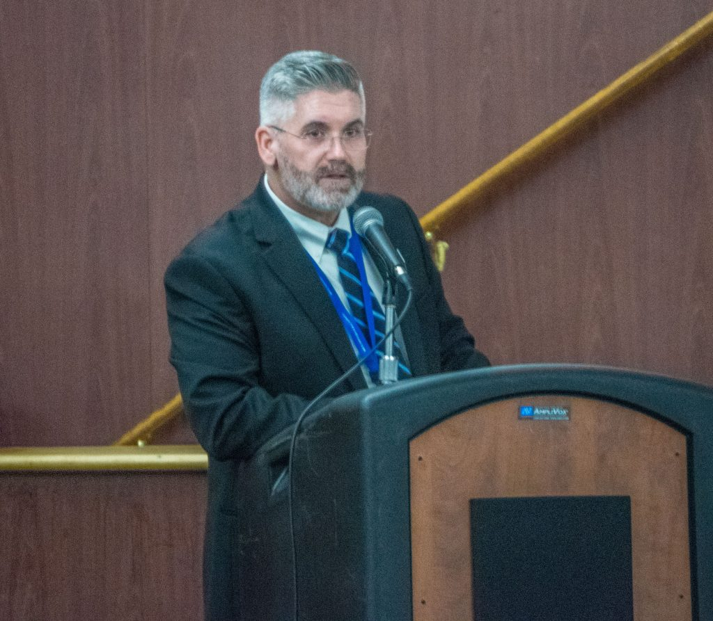 Brick schools superintendent Gerard Dalton delivers the 2019-20 budget address. (Photo: Daniel Nee)