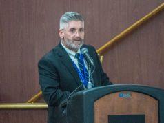 Brick schools superintendent Gerard Dalton delivers the 2019-20 budget address. (Photo: Daniel Nee)