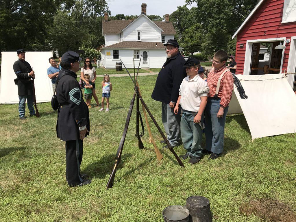 A Civil War encampment in Brick. (Photo: Brick Twp. Historical Society)