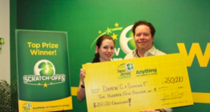 Damon Cherico and Shayna Flanders of Brick. (Photo: NJ Lottery)