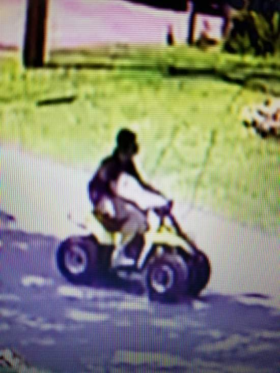 The driver of an ATV who struck a Brick police officer, Aug. 8, 2019. (Photo: Brick Twp. Police)