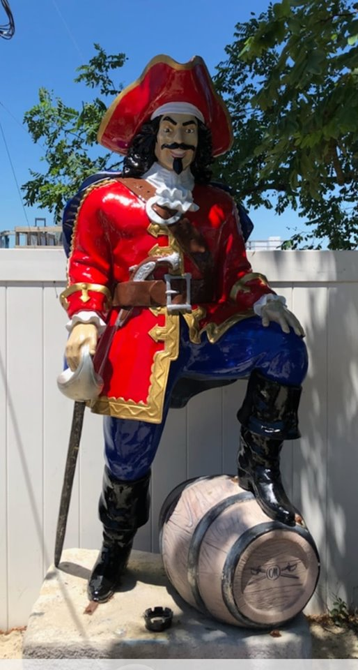 The Captain Morgan statue at River Rock in Brick. (Photo: River Rock/Facebook)