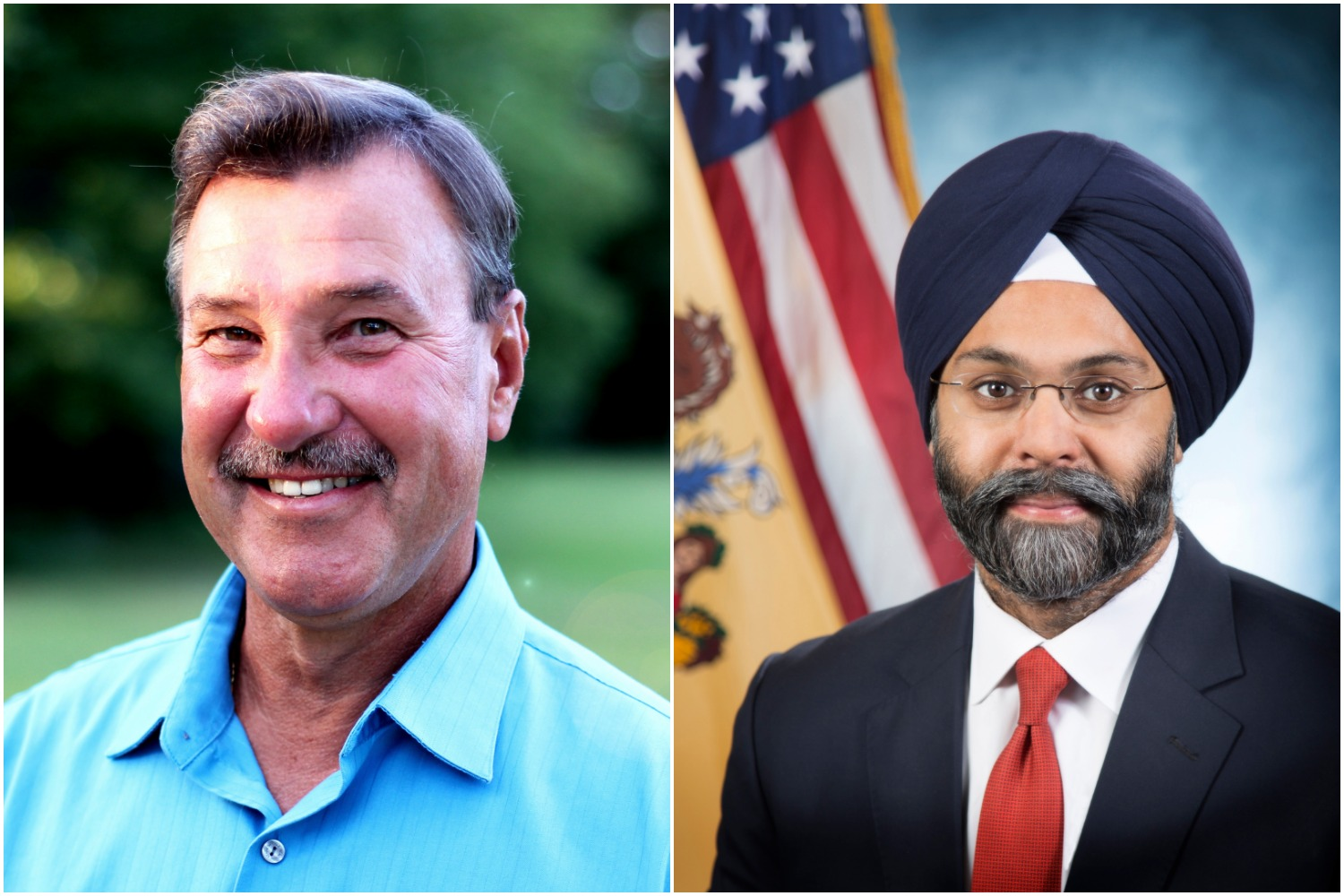 Brick Councilman Jim Fozman (R) and Attorney General Gurbir Grewal (D) (Photos: File)