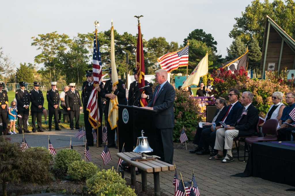 Brick Township's 2019 remembrance ceremony for the 9/11 attacks. (Photo: Daniel Nee)