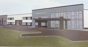 A rendering of a proposed medical facility on the 'triangle lot' in Brick Township. (Photo: Daniel Nee)