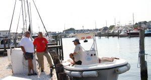 One vessel in the Ocean County pumpout boat fleet. (Photo: Ocean County)