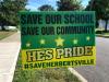 A sign opposing the closure of Herbertsville Elementary School in Brick. (Photo: Daniel Nee)