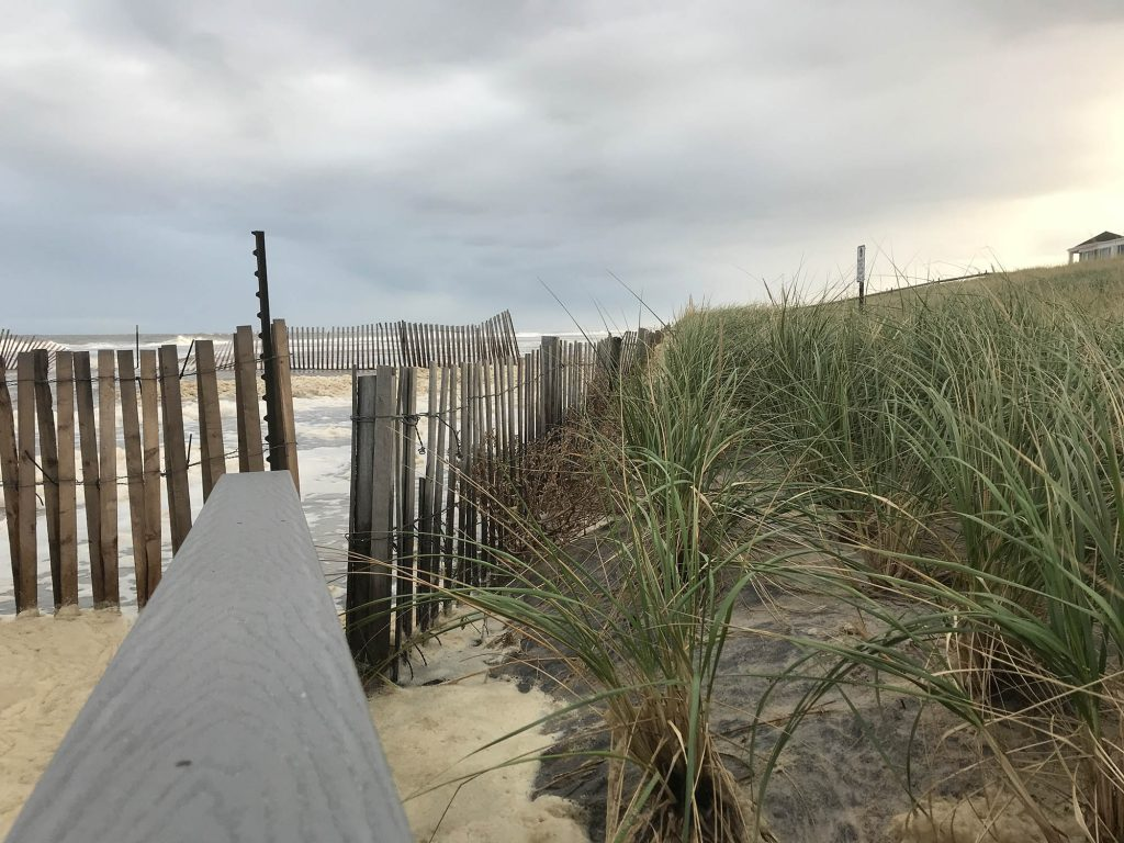 Brick Beach III during the Oct. 10, 2019 nor'easter. (Photo: Daniel Nee)