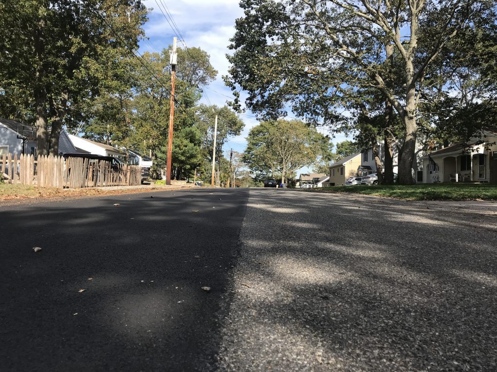 A half-paved street in Brick's Herbertsville section, Oct. 2019. (Photo: Daniel Nee)