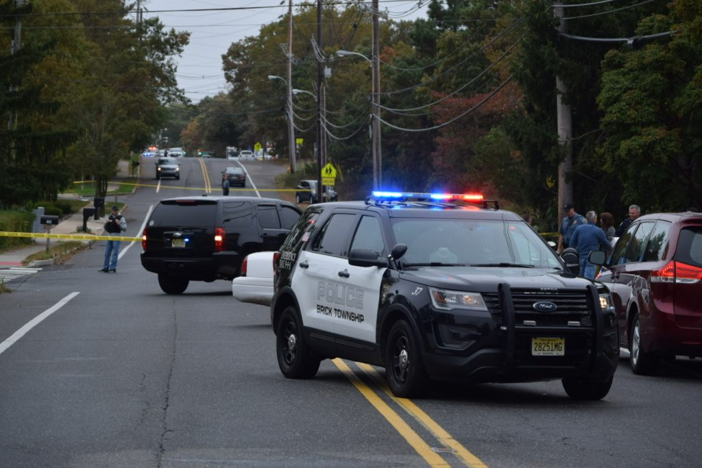 Police block off Lanes Mill Road near Brick Memorial High School, Oct. 22, 2019. (Photo: Daniel Nee)