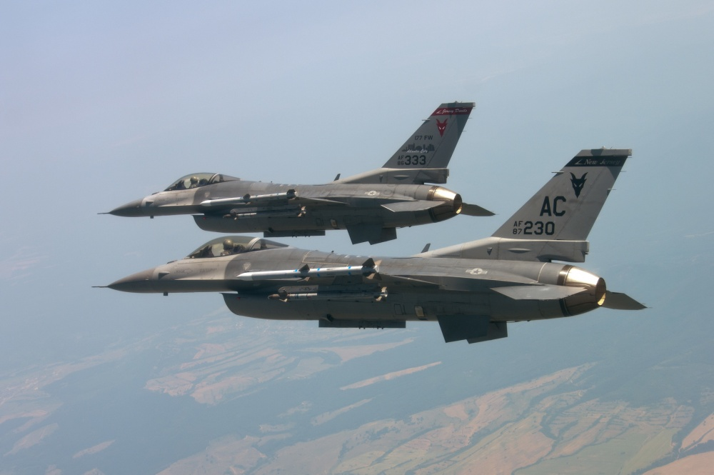 F-16s from the New Jersey Air National Guard's 177th Fighter Wing. (PhotoL NJANG)