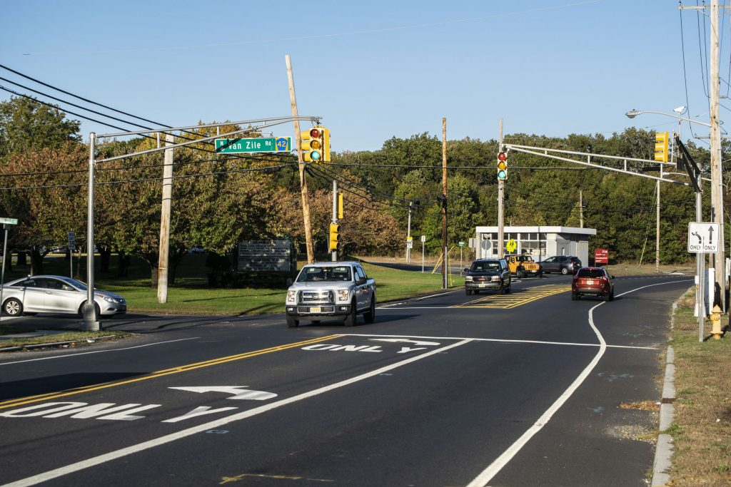 The intersection of Route 88 and Van Zile Road. (Photo: Daniel Nee)