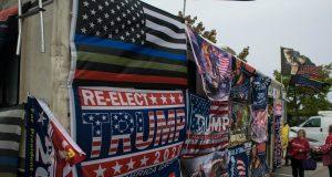 Rocky Granata's Trump-themed RV in Brick, Oct. 2019. (Photo: Daniel Nee)