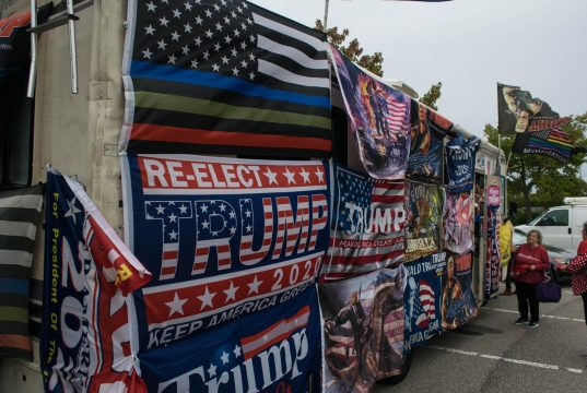 Rocky Granata's Trump-themed RV in Brick, Oct. 2019. (Photo: Daniel Nee)
