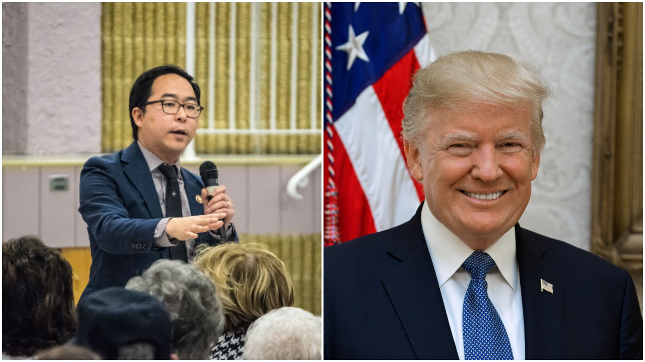U.S. Rep. Andy Kim and President Donald Trump. (Photos: Shorebeat/White House)