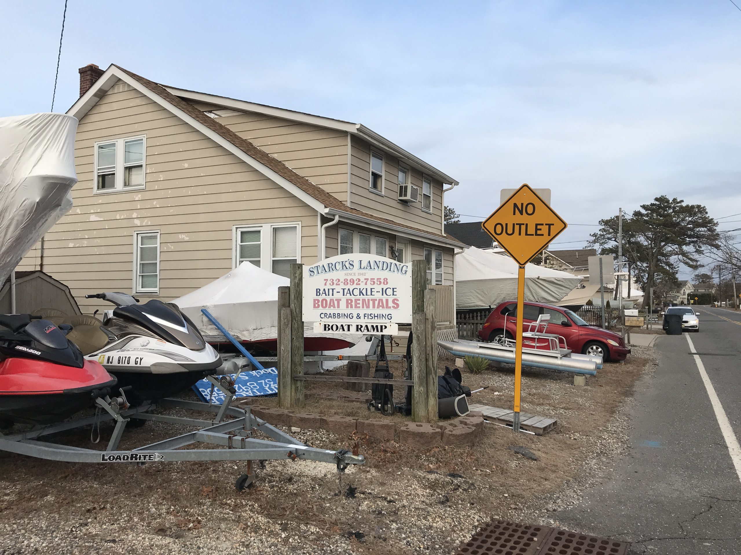 Four townhome units are proposed to replace a Princeton Avenue Marina, Jan. 30, 2020. (Photo: Daniel Nee)