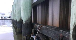 Flapper valves installed at M Street in Seaside Park. (Photo: Daniel Nee)