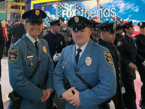 Brick police officers are honored on Fox News Channel, Jan. 9, 2020. (Photo: Brick Twp. Police)