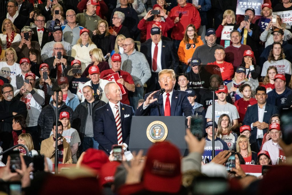 President Donald Trump and his supporters gather at the Wildwoods Convention Center, Jan. 28, 2020. (Photo: Daniel Nee/Shorebeat)