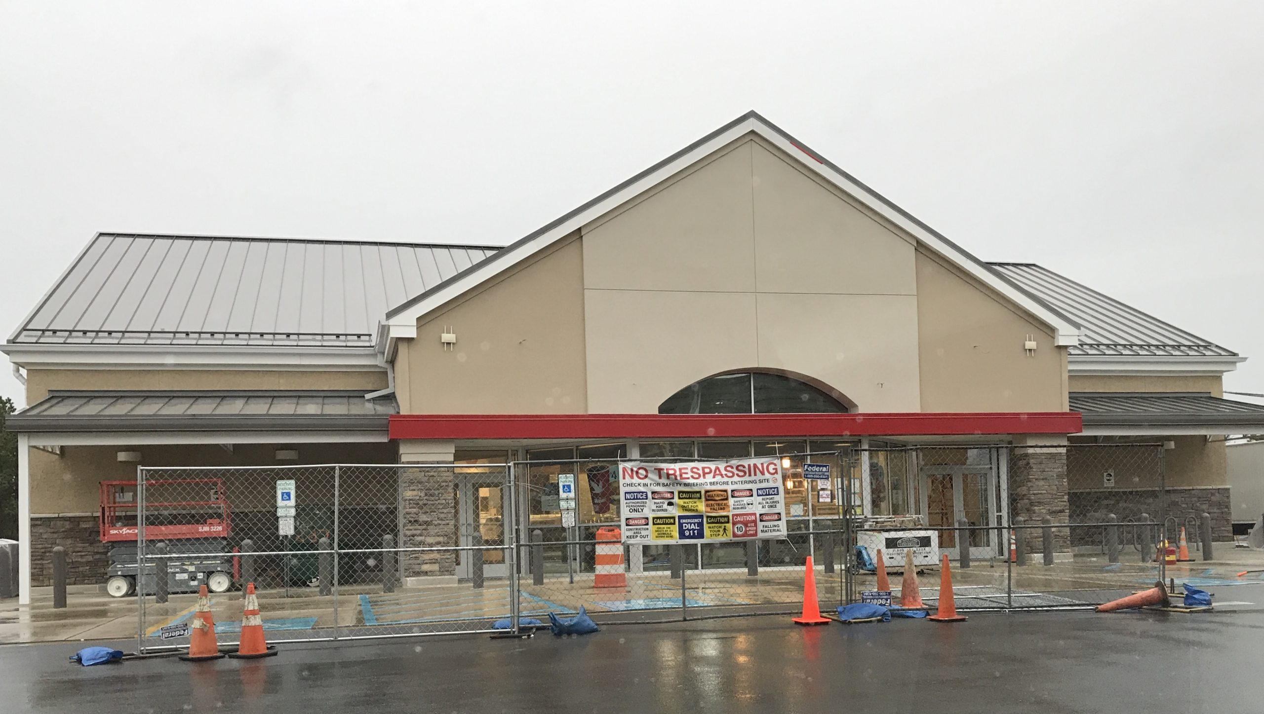 The Brick Boulevard Wawa store under construction, Feb. 10, 2020. (Photo: Daniel Nee)