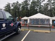 A drive-through testing facility at Ocean County College, March 30, 2020. (Photo: Ocean County)