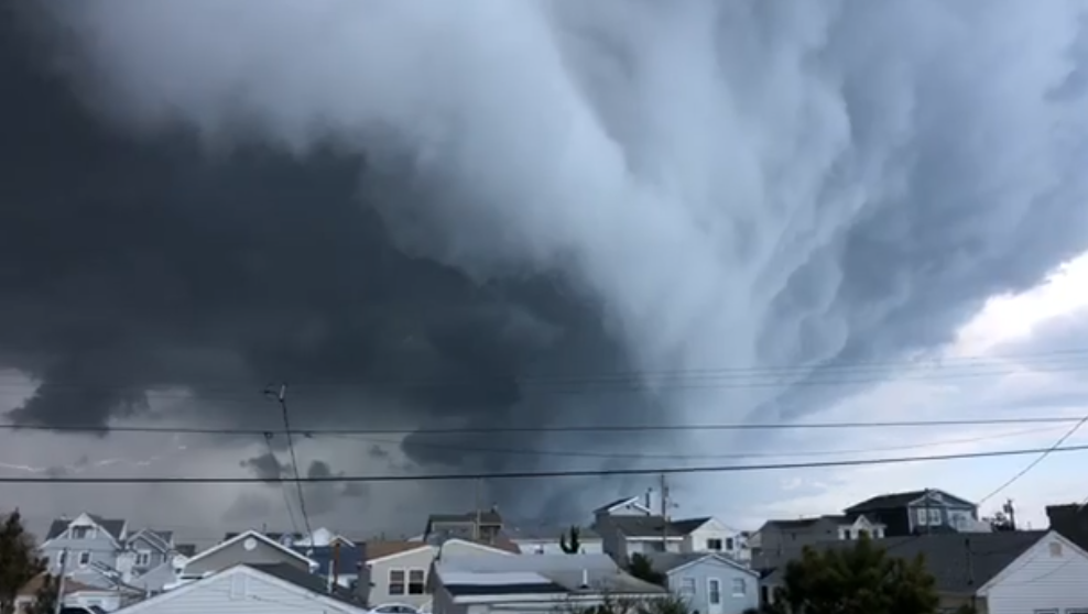 A funnel cloud near South Seaside Park, April 21, 2020. (Photo: Shore and More General Store)